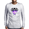 Galaxy Melting Diamond Mens Long Sleeve T-Shirt