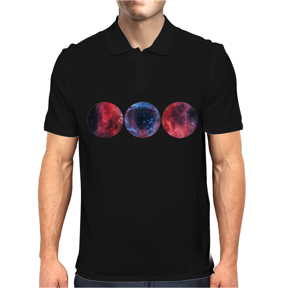 Galaxy Print Tee HIPSTER INDIE SWAG Mens Polo