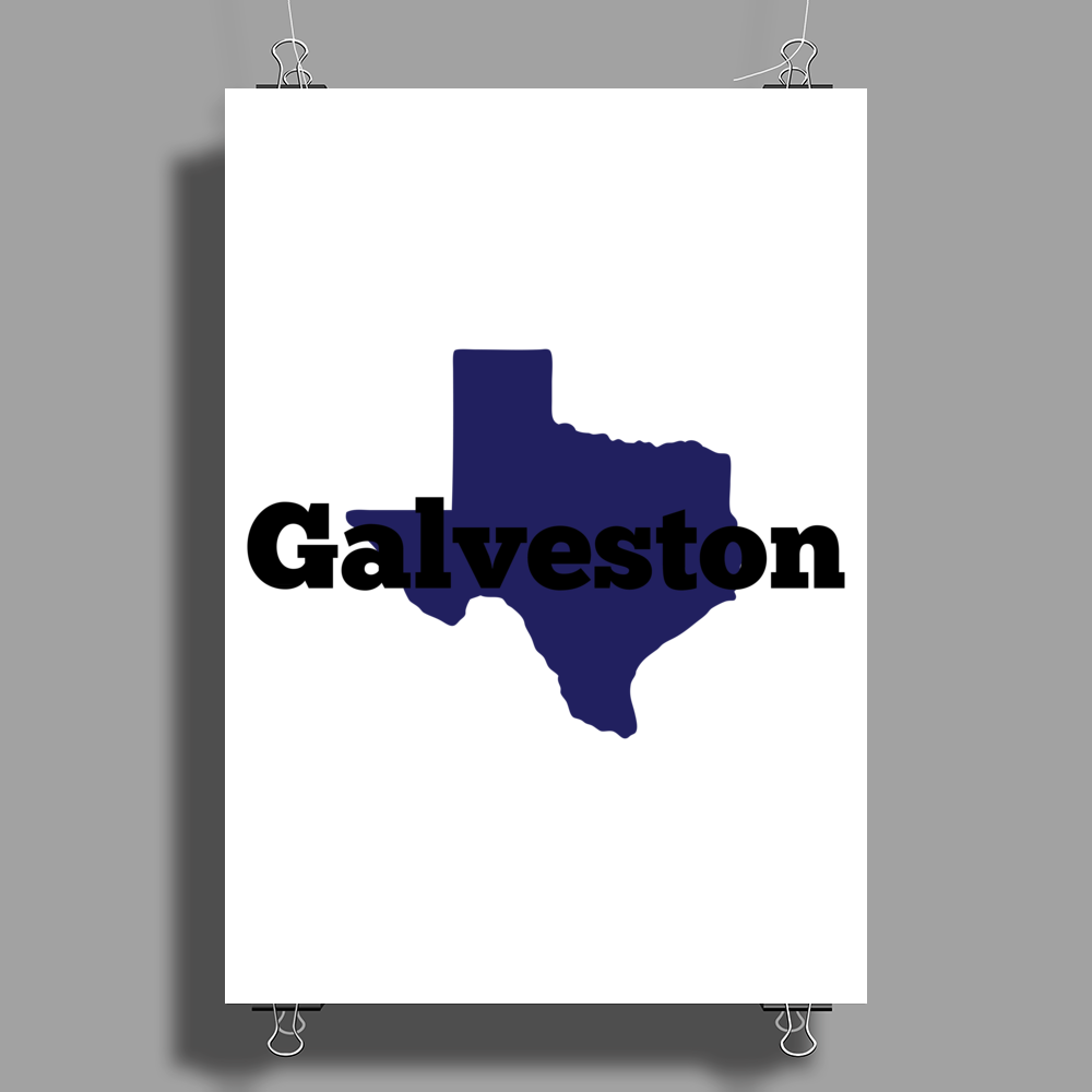 Galveston Texas. Poster Print (Portrait)