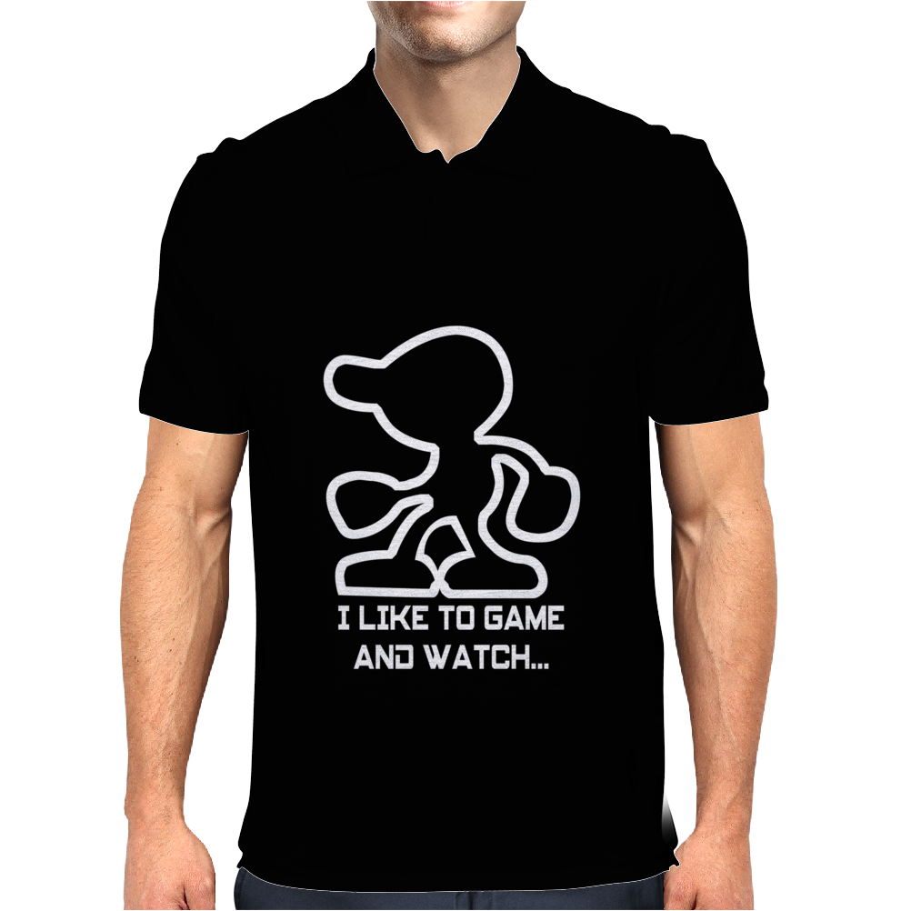 Game And Watch Parody Video Game Mens Polo