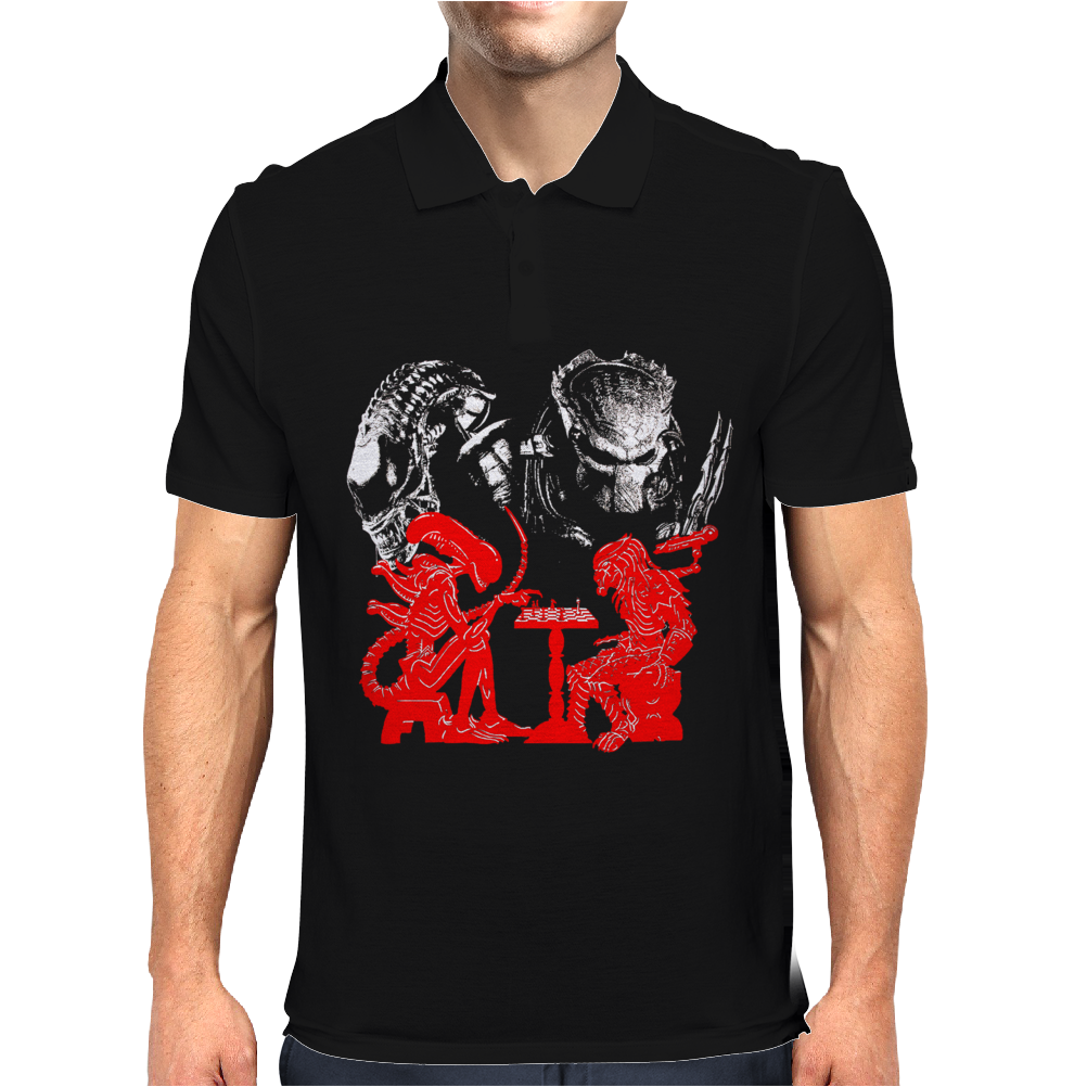 Game Chess alien vs predator Mens Polo