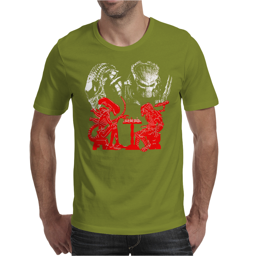 Game Chess alien vs predator Mens T-Shirt