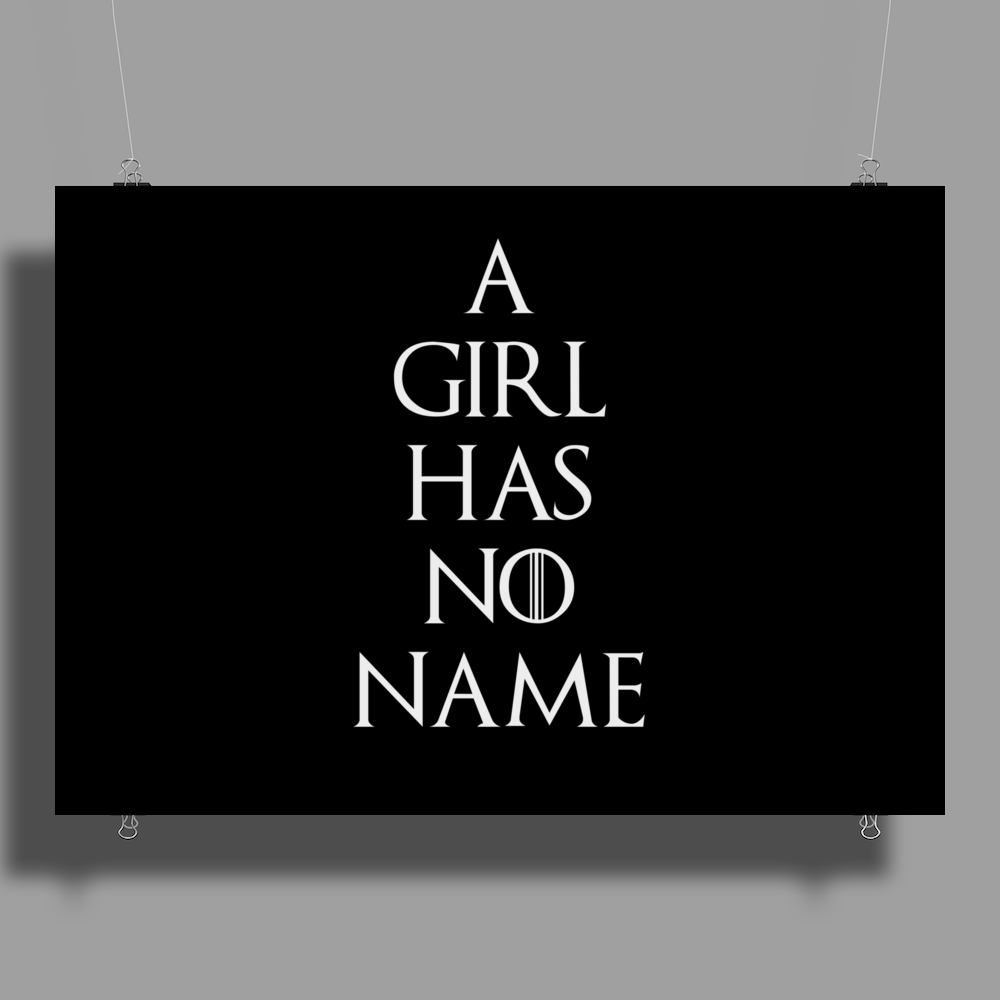Game of thrones Arya Stark A Girl has no Name Poster Print (Landscape)