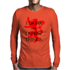 GAME OF THRONES DRINK AND I KNOW THINGS TYRION LANNISTER Mens Long Sleeve T-Shirt
