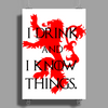 GAME OF THRONES DRINK AND I KNOW THINGS TYRION LANNISTER Poster Print (Portrait)
