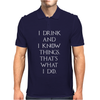 Game of Thrones Tyrion Lannister Drink and Know Things Mens Polo