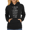Game of Thrones Tyrion Lannister Drink and Know Things Womens Hoodie