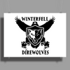 Game Of Thrones, Winterfell Direwolves Poster Print (Landscape)
