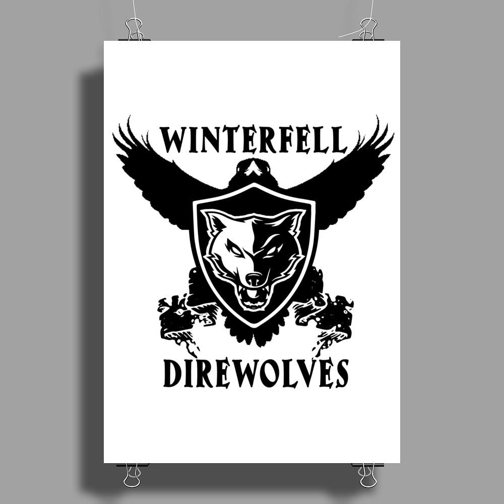 Game Of Thrones, Winterfell Direwolves Poster Print (Portrait)