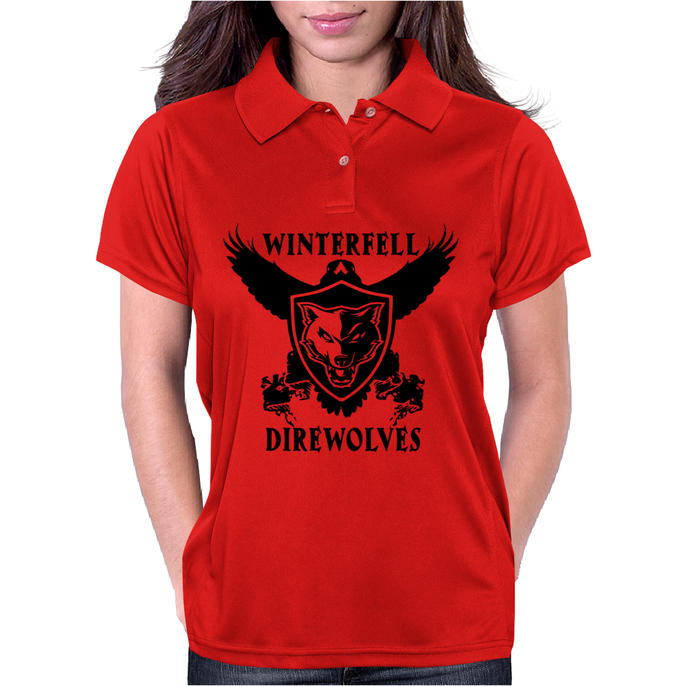 Game Of Thrones, Winterfell Direwolves Womens Polo