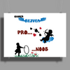 Gamer heaven noon and pro Poster Print (Landscape)