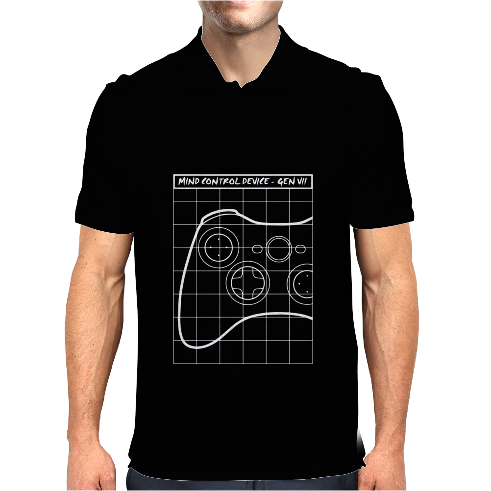 Gamer Mind Control Mens Polo