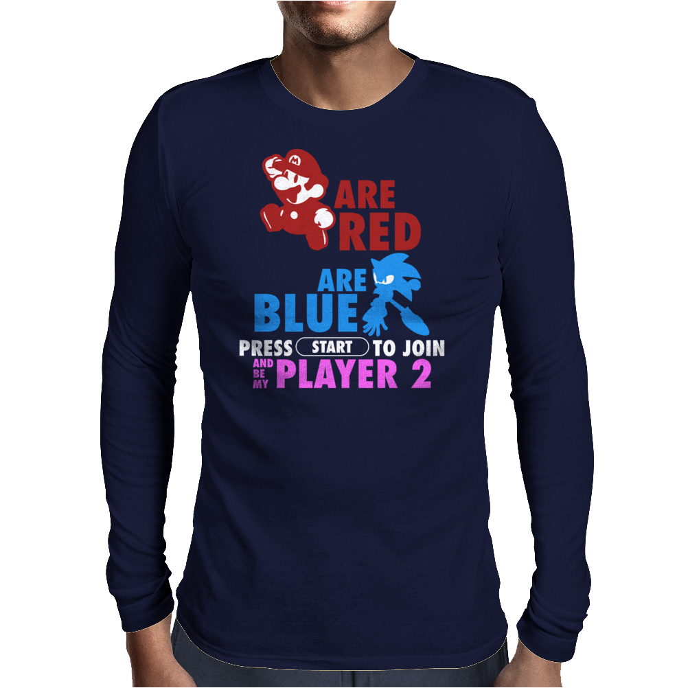 Gamer Version (Poem) Mens Long Sleeve T-Shirt