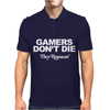 GAMERS DON'T DIE THEY RESPAWN Mens Polo