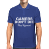 Gamers don't die they respawn! Mens Polo