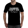 GAMERS DON'T DIE THEY RESPAWN Mens T-Shirt