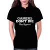 GAMERS DON'T DIE THEY RESPAWN Womens Polo
