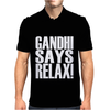 GANDHI SAYS RELAX! Mens Polo