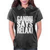 GANDHI SAYS RELAX! Womens Polo
