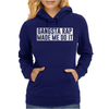 GANGSTER RAP MADE ME DO IT Womens Hoodie