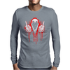 Gangster skeleton Mens Long Sleeve T-Shirt