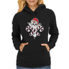 Gangster Skull and Crossbones Christmas Pirate Womens Hoodie