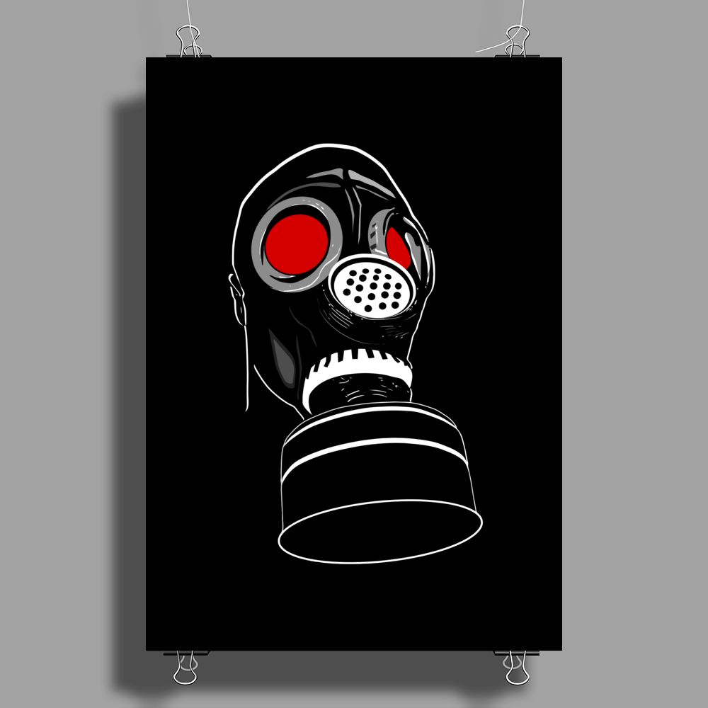 gas mask Poster Print (Portrait)