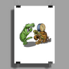 Gator and Turtle Sing The Blues  Poster Print (Portrait)