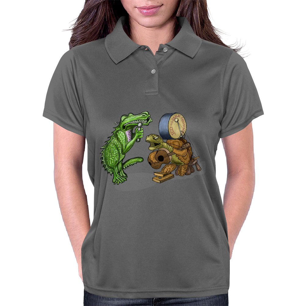 Gator and Turtle Sing The Blues  Womens Polo