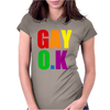 Gay Ok Design Womens Fitted T-Shirt