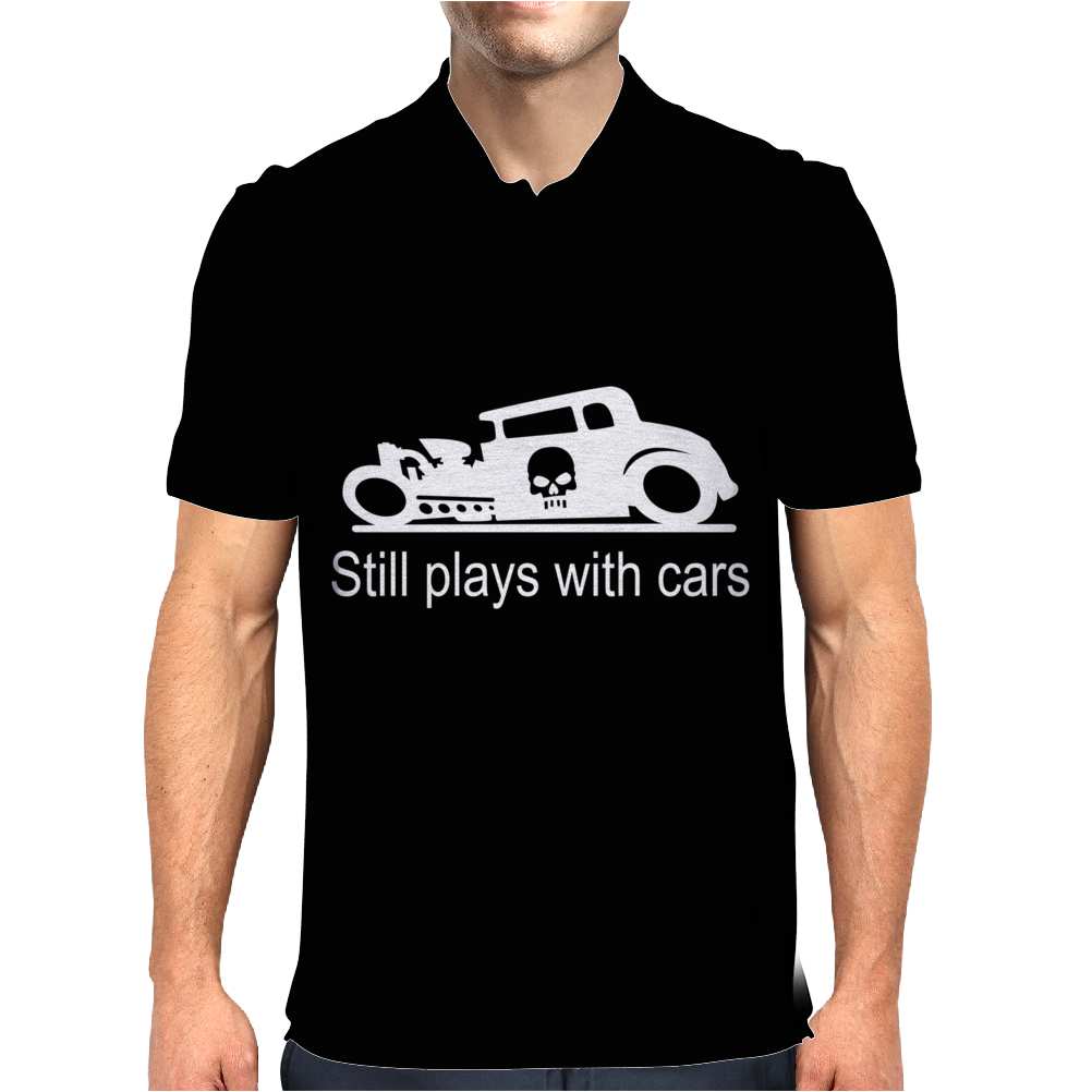 GearHead Still Plays with Cars Mens Polo