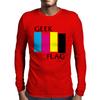 Geek Flag (Black Flag) Mens Long Sleeve T-Shirt