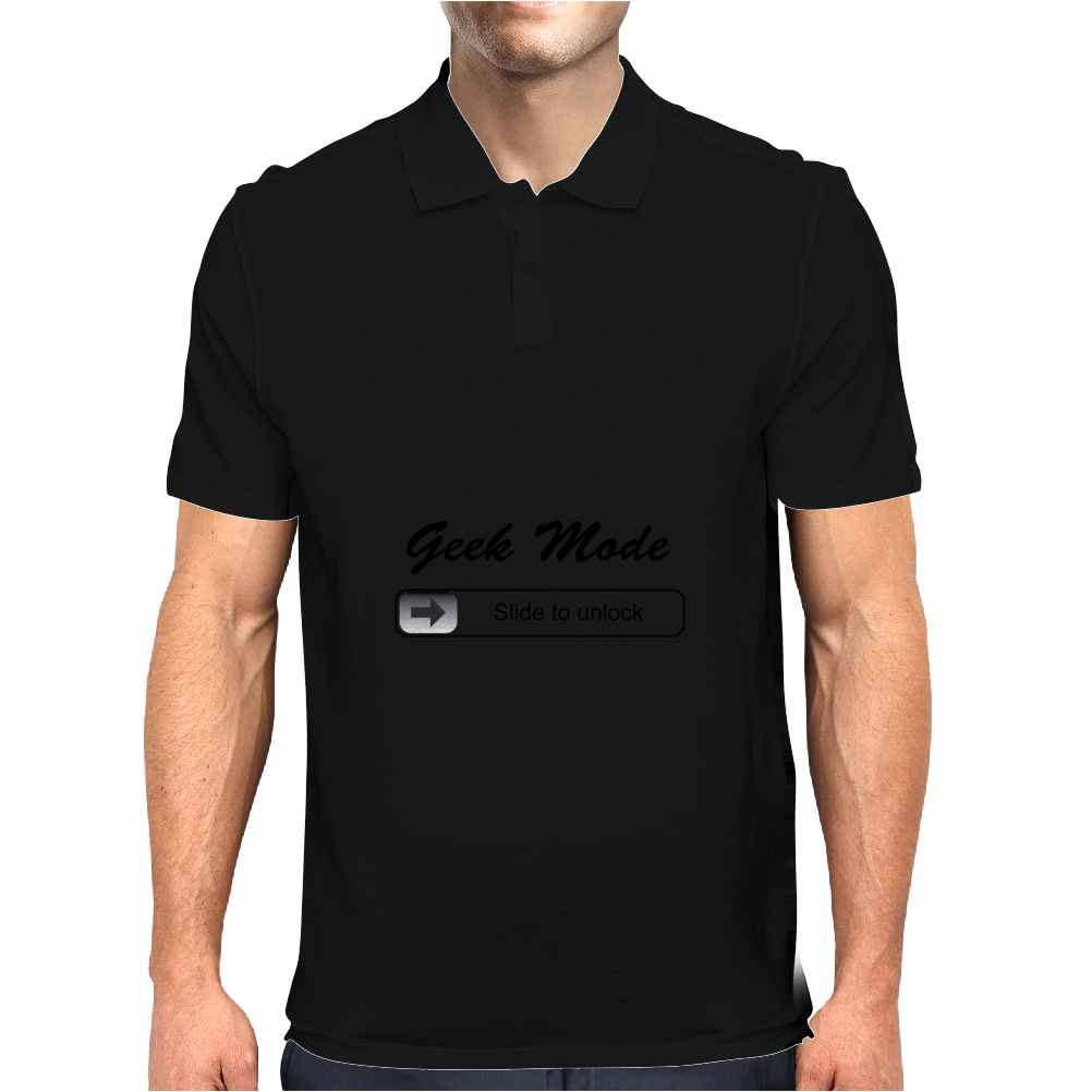 Geek Mode - Slide to unlock Mens Polo