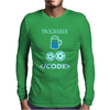 Geek nerd computer programmer code joke retro Mens Long Sleeve T-Shirt