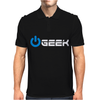 Geek' (Power on button) Mens Polo