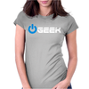 Geek' (Power on button) Womens Fitted T-Shirt