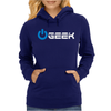 Geek' (Power on button) Womens Hoodie