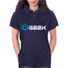 Geek' (Power on button) Womens Polo