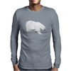Geometric Polar Bear Mens Long Sleeve T-Shirt