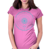 geometric solar system Womens Fitted T-Shirt