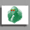 George Washington in sunglasses vignette Poster Print (Landscape)