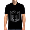 German Eagle Crest Deutschland Germany Flag Logo Mens Polo