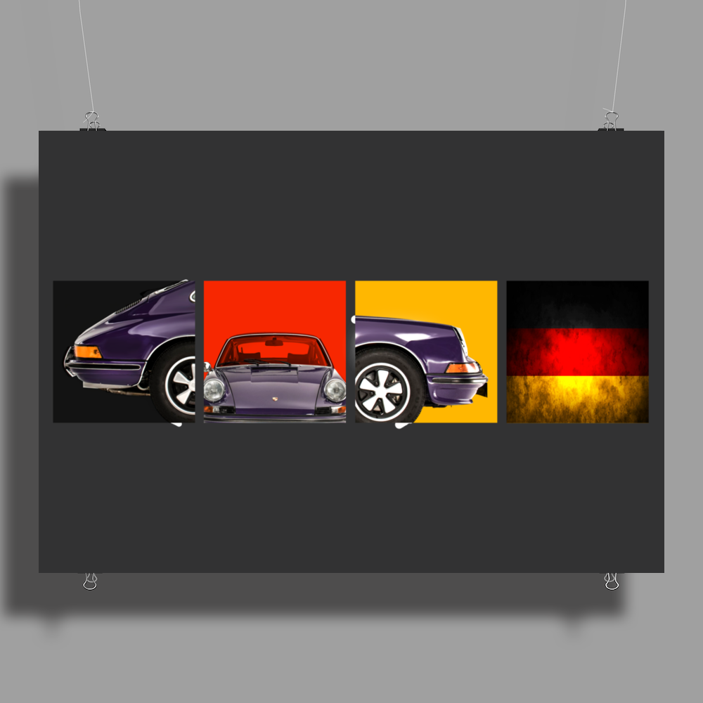 German Icon - The 911S Poster Print (Landscape)