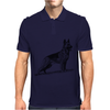 German Shepherd, Dog Breed Illustration Mens Polo