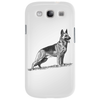 German Shepherd, Dog Breed Illustration Phone Case