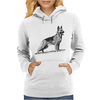 German Shepherd, Dog Breed Illustration Womens Hoodie