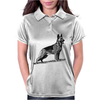 German Shepherd, Dog Breed Illustration Womens Polo