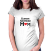 German Shepherd Mom Womens Fitted T-Shirt