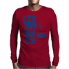 Geronimo - Doctor Who and Clara Mens Long Sleeve T-Shirt