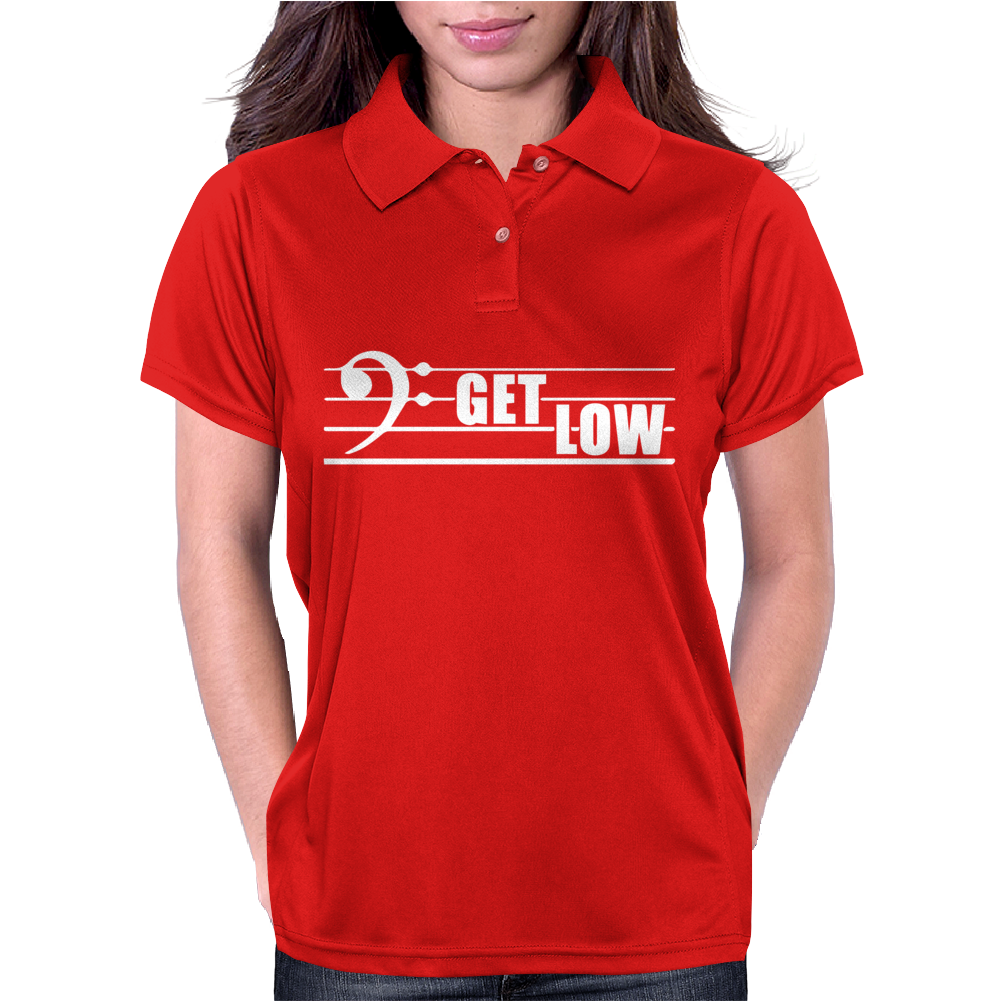 Get Low Bass Clef Womens Polo